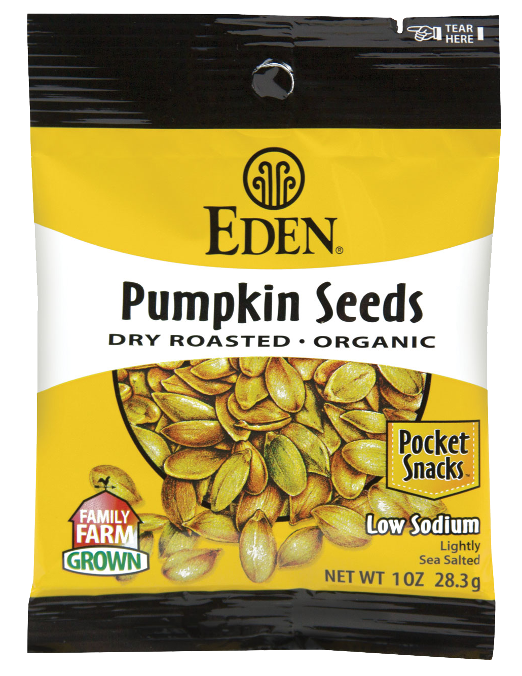 Healthy Office Snacks, Eden Pumpkin Seeds