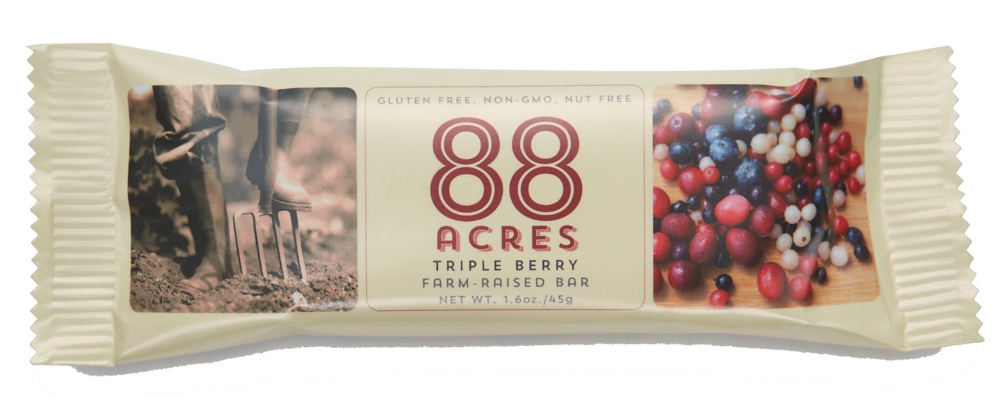 Healthy Office Snacks, 88 Acres Triple Berry Bar