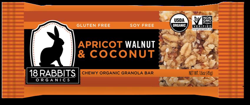 Healthy Office Snacks, 18 Rabbits Organics - Apricot, Walnut & Coconut
