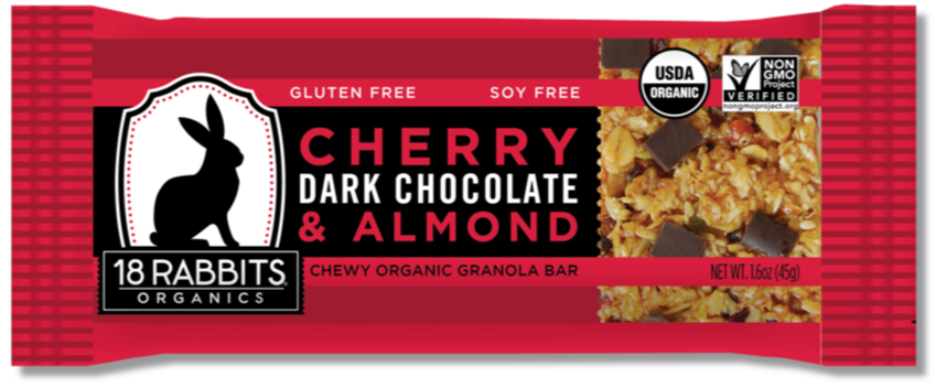 Healthy Office Snacks, 18 Rabbits Organics - Cherry, Dark Chocolate & Almond