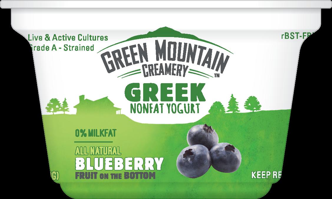 Healthy Office Snacks, Green Mountain Creamery - Blueberry Greek Yogurt