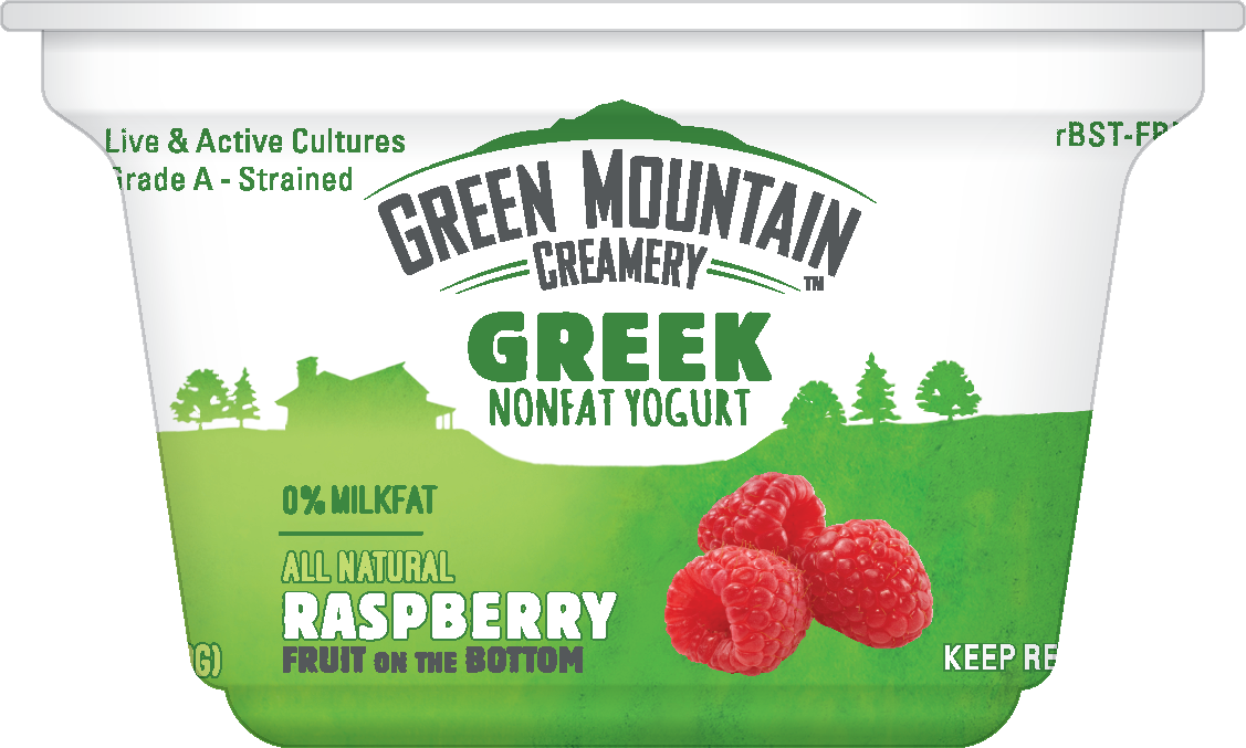 Healthy Office Snacks, Green Mountain Creamery - Raspberry Greek Yogurt