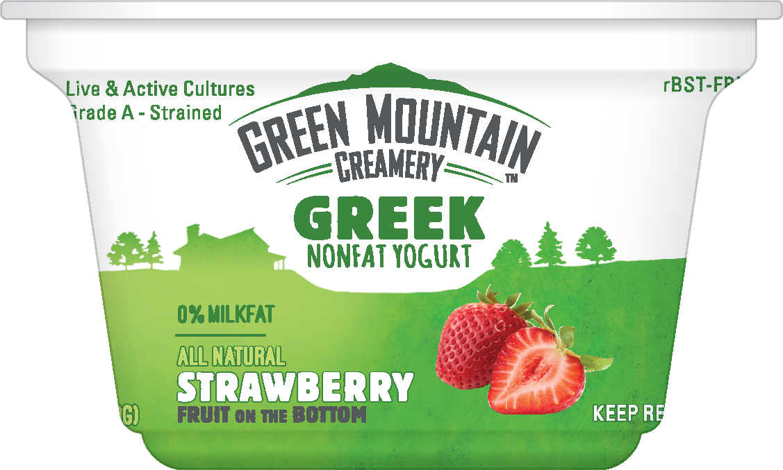 Healthy Office Snacks, Green Mountain Creamery - Strawberry Greek Yogurt
