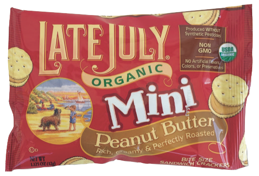 Healthy Office Snacks, Late July - Peanut Butter Crackers