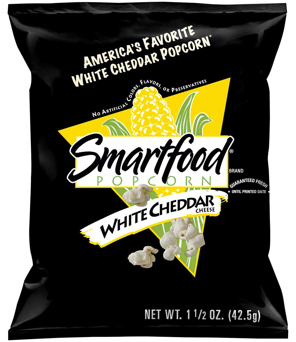 Healthy Office Snacks, Smartfood White Cheddar