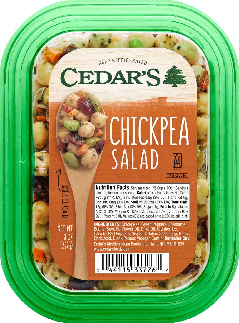 Healthy Office Snacks, Cedar's Chickpea Salad