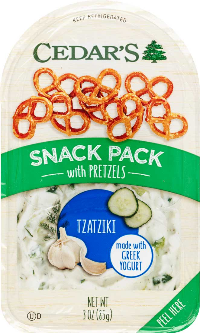 Healthy Office Snacks, Cedar's Tzatiki Snack Pack