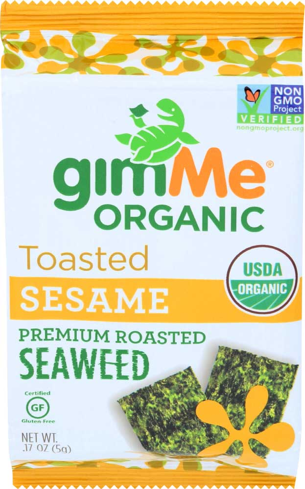 Healthy Office Snacks, GimMe Organic Seaweed – Sesame