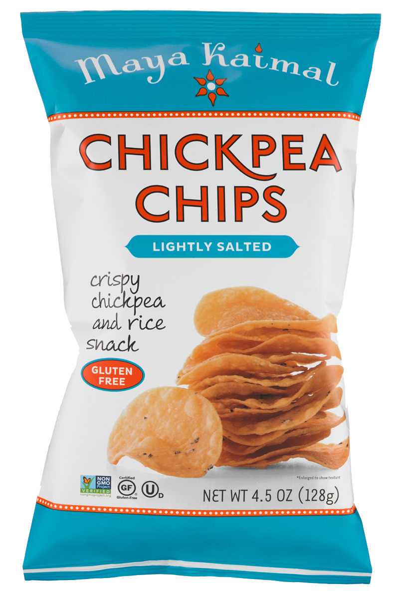 Healthy Office Snacks, Maya Kaimal - Chickpea Chips