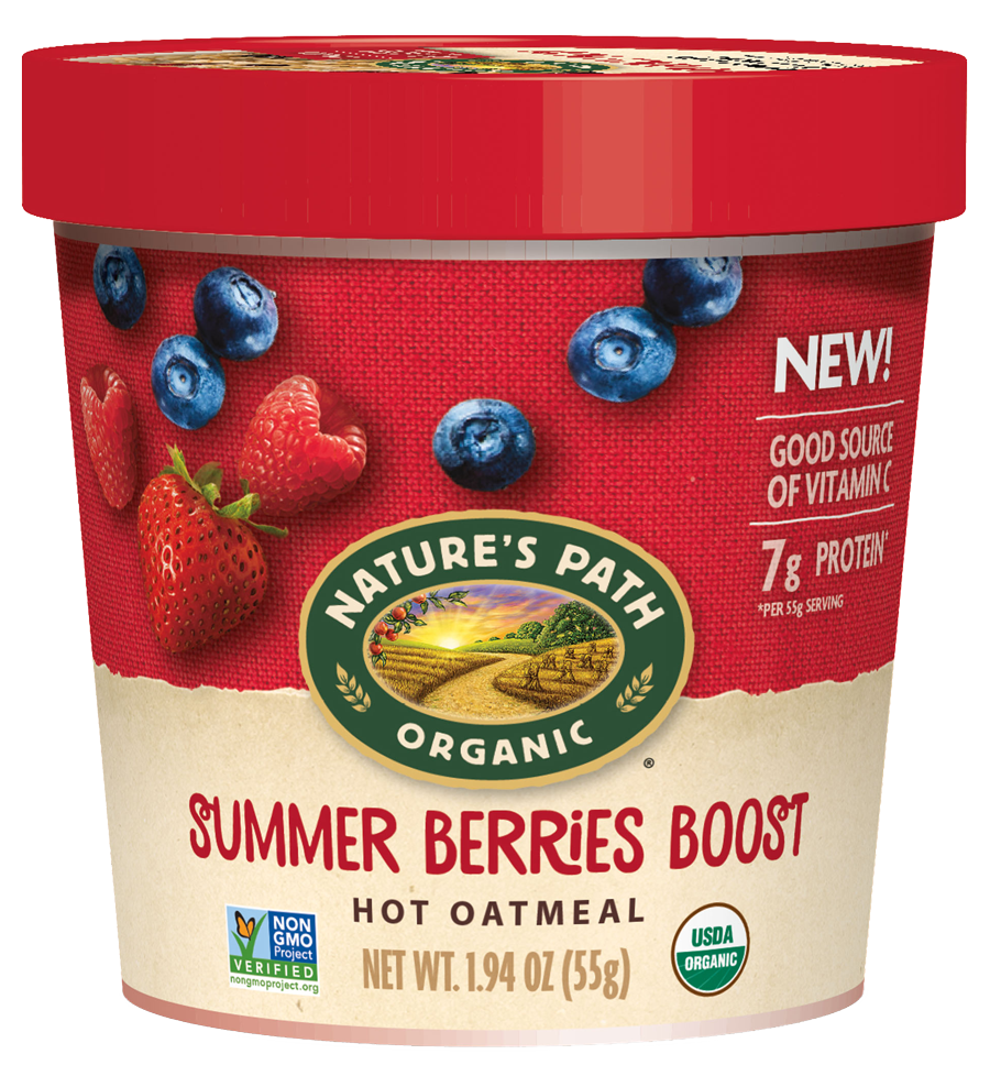 Healthy Office Snacks, Summer's Path Summer Berries Boost Oatmeal