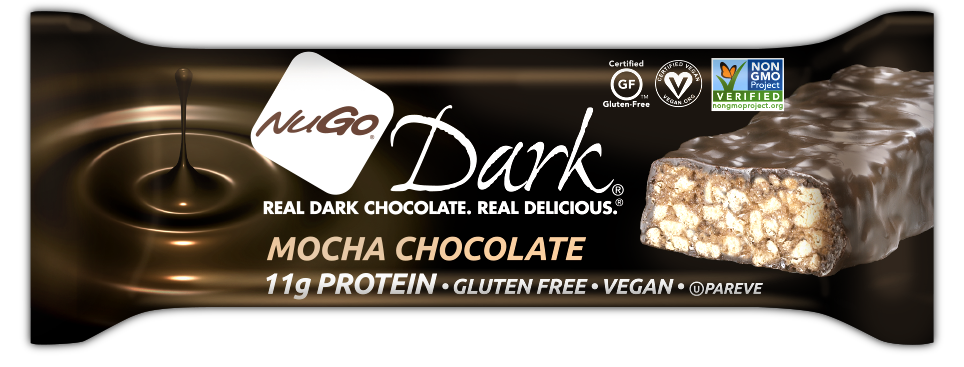Healthy Office Snacks, NuGo - Mocha Chocolate