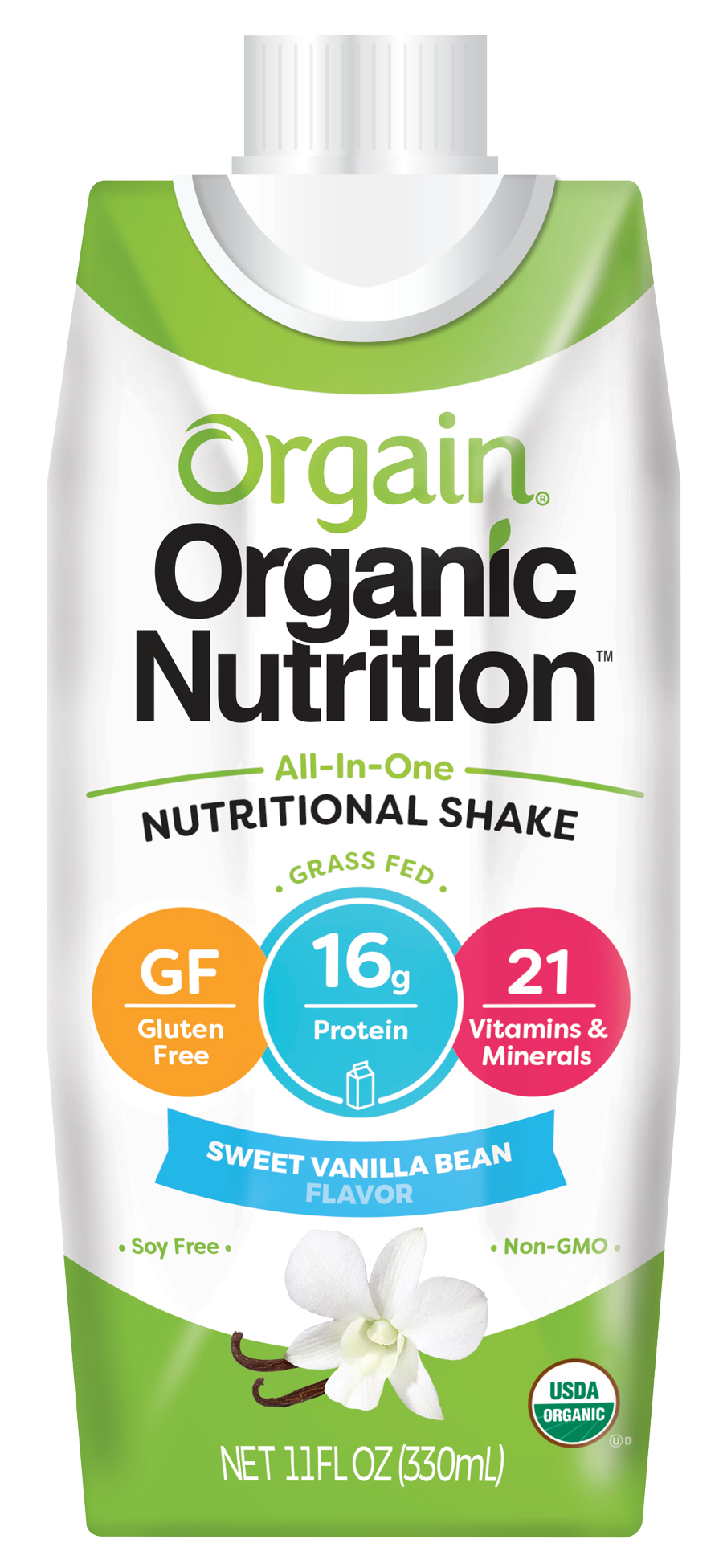 Healthy Office Drinks, Orgain Nutritional Shake - Vanilla