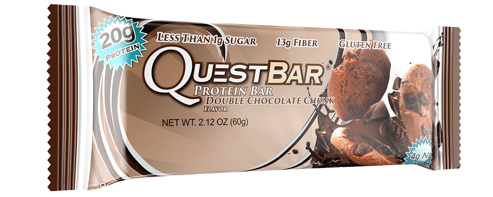 Healthy Office Snacks, QuestBar Double Chocolate Chunk