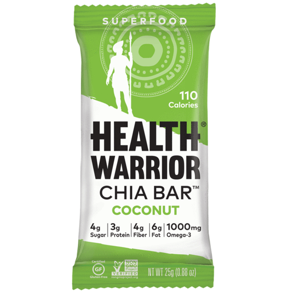Healthy Office Snacks, warrior chia bar coconut