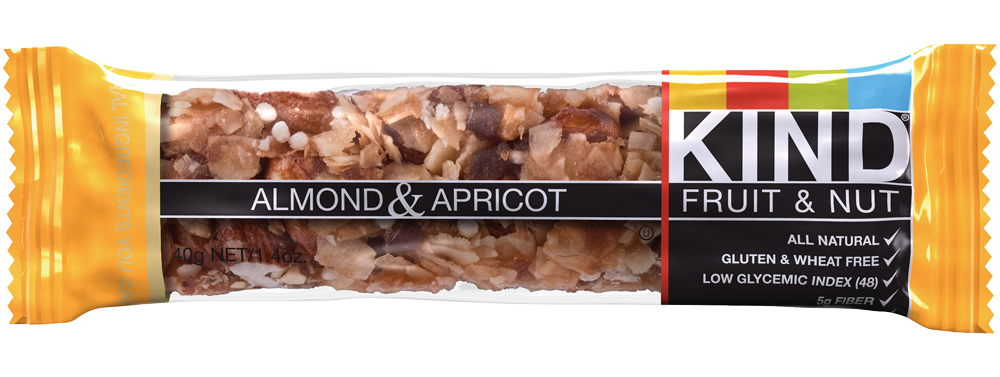 Healthy Office Snacks, Kind bar almond and apricot