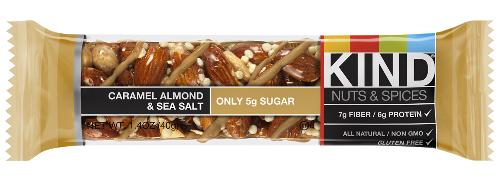Healthy Office Snacks, Kind Bar Caramel Almond & Sea Salt