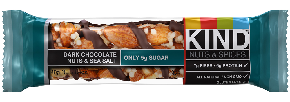 Healthy Office Snacks, Kind Bar - Dark Chocolate Nuts & Sea Salt
