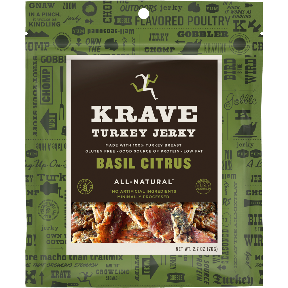 Healthy Office Snacks, Krave Basil Citrus