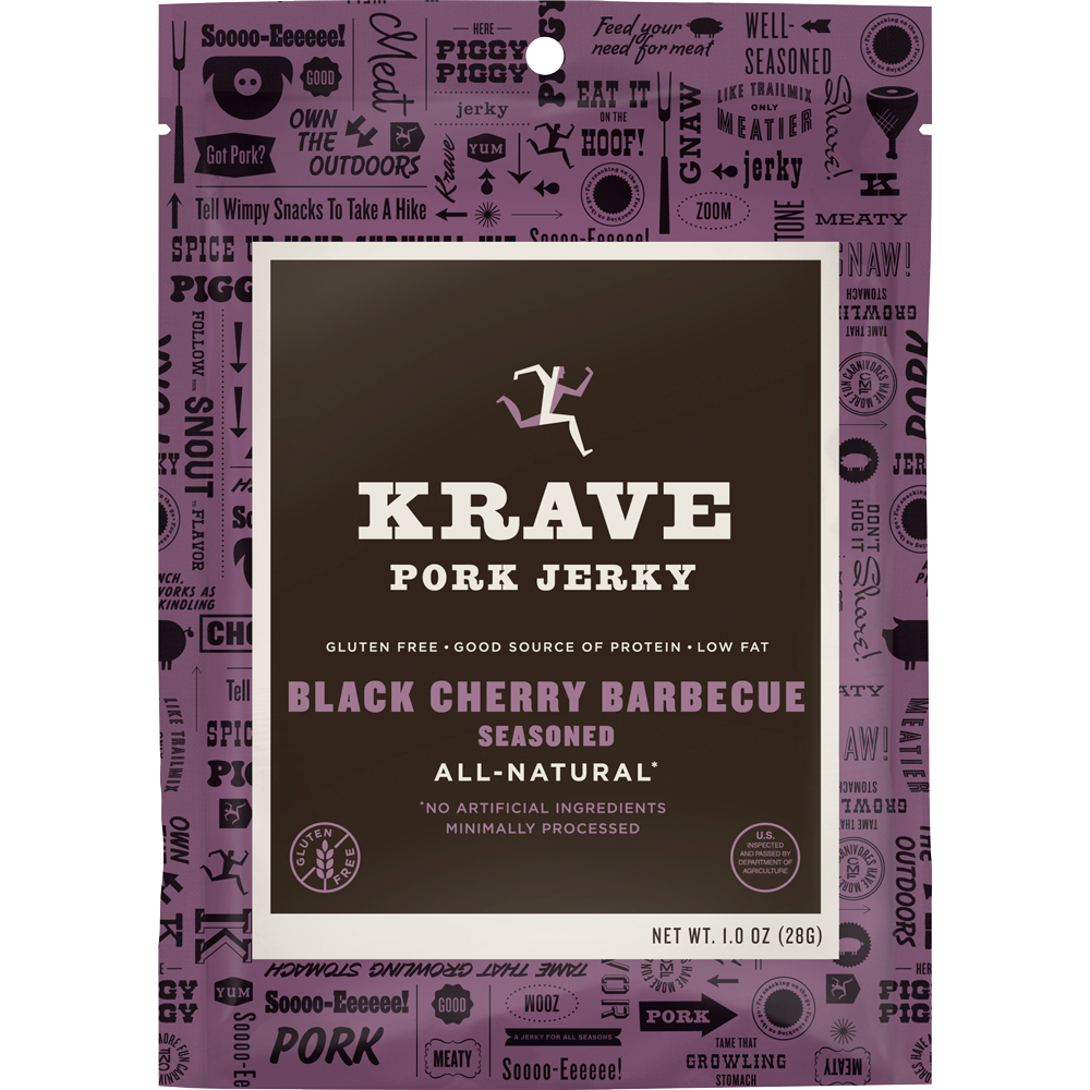 Healthy Office Snacks, Krave Black Cherry Barbecue