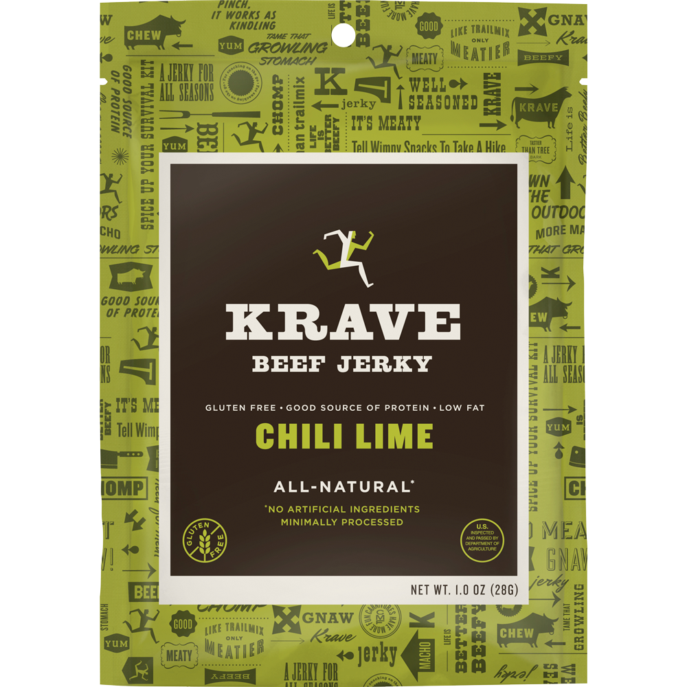 Healthy Office Snacks, Krave Chili Lime